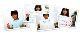 名古屋の授業を受ける中学生男女